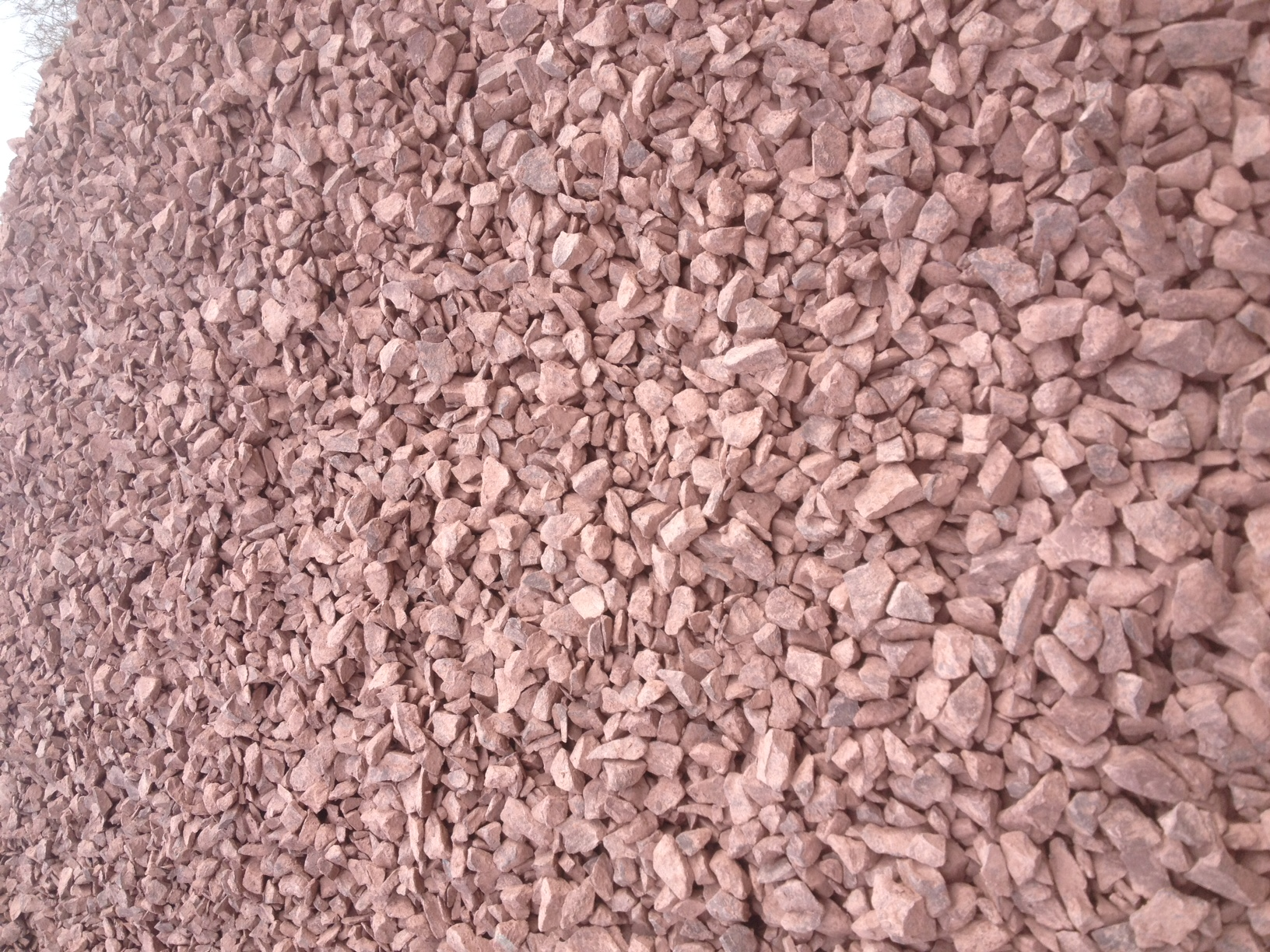 Stone gravel sand corner supply landscape yard for Red stone landscape rock